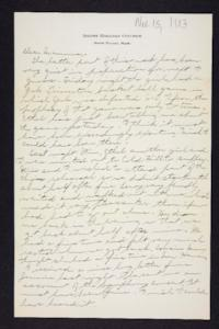 Letter from Edna L. Ferry to Rosella E. Ferry, 1903 November 15