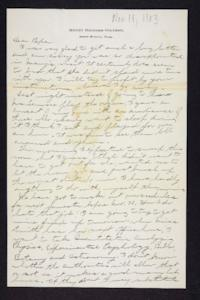 Letter from Edna L. Ferry to Charles A. Ferry, 1903 November 18