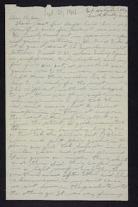 Letter from Edna L. Ferry to Charles A. Ferry, 1904 September 21