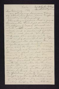 Letter from Edna L. Ferry to Rosella E. Ferry, 1904 November 6