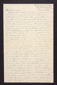 Letter from Edna L. Ferry to Rosella E. Ferry, 1905 February 1