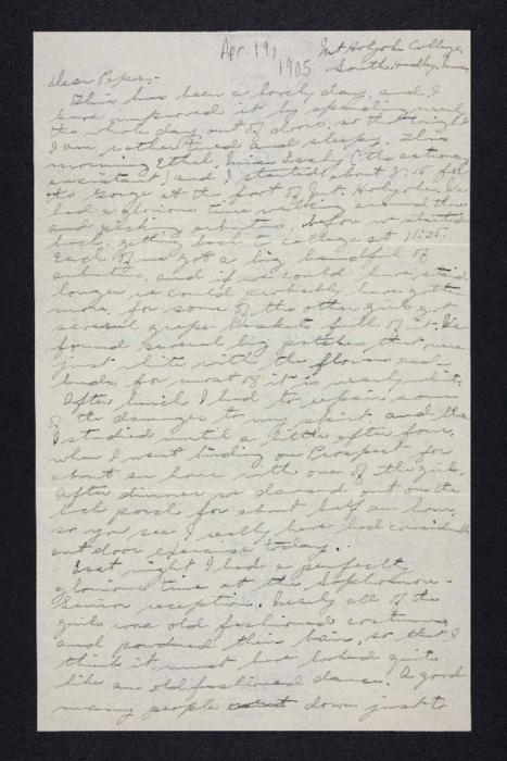 Letter from Edna L. Ferry to Charles A. Ferry, 1905 April 19