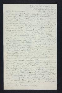 Letter from Edna L. Ferry to Rosella E. Ferry, 1905 April 30