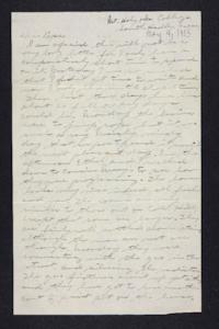 Letter from Edna L. Ferry to Charles A. Ferry, 1905 May 4