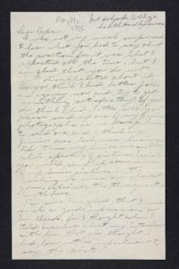 Letter from Edna L. Ferry to Charles A. Ferry, 1905 May 14