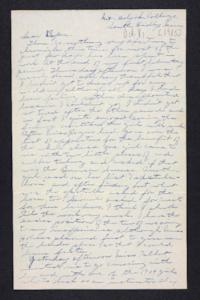 Letter from Edna L. Ferry to Charles A. Ferry, 1905 October 8