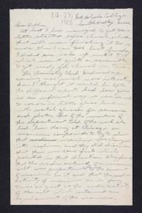 Letter from Edna L. Ferry to Charles A. Ferry, 1905 October 27