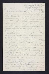Letter from Edna L. Ferry to Charles A. Ferry, 1905 November 6