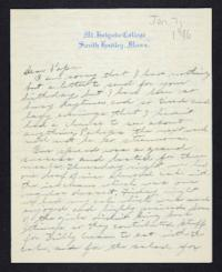 Letter from Edna L. Ferry to Charles A. Ferry, 1906 January 7