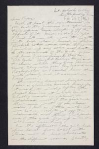 Letter from Edna L. Ferry to Charles A. Ferry, 1906 February 25