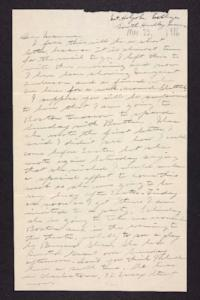 Letter from Edna L. Ferry to Rosella E. Ferry, 1906 March 22