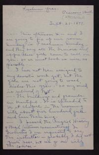 Letters from Mabel Hubbard to unidentifed recipient, September 1899 to March 1900