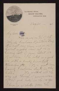 Letter from Mabel Hubbard to unidentified recepient