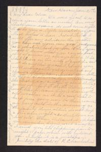 Letter from Rosella E. Ferry to Edna L. Ferry,  1903 January 21