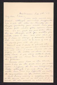 Letter from Charles A. Ferry and Rosella E. Ferry to Edna L. Ferry, 1903 February 8