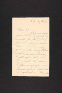 Letter from Rosella E. Ferry to Edna L. Ferry, 1903 February 19