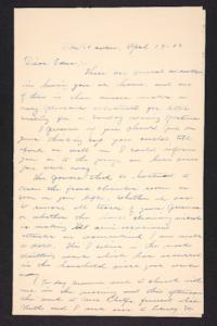 Letter from Charles A. Ferry and Rosella E. Ferry to Edna L. Ferry, 1903 April 19