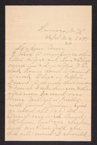 Letter from Mary A. Roberts to Amy Roberts Jones, 1897 September 26