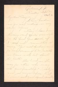 Letter from unidentified correspondent to Amy Roberts Jones, 1897 September 26