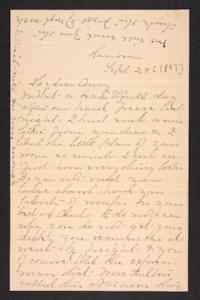 Letter from Mary A. Roberts to Amy Roberts Jones, 1897 September 29