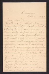 Letter from Mary A. Roberts to Amy Roberts Jones, 1897 October 2