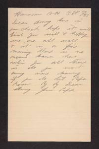 Letter from unidentified correspondent to Amy Roberts Jones, 1897 October 5