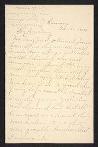 Letter from Mary A. Roberts to Amy Roberts Jones, 1897 October 10