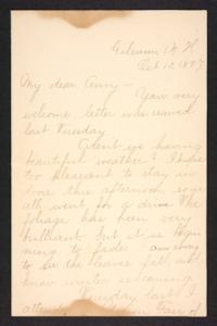 Letter from Fannie Loveland to Amy Roberts Jones, 1897 October 10