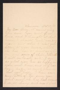 Letter from her aunt to Amy Roberts Jones, 1897 October 17