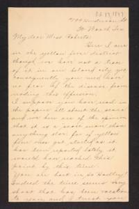 Letter from unidentified correspondent  to Amy Roberts Jones, 1897 October 17