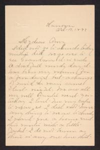 Letter from Mary A. Roberts to Amy Roberts Jones, 1897 October 17