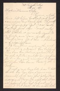 Letter from Mary A. Roberts to Amy Roberts Jones, 1897 October 22