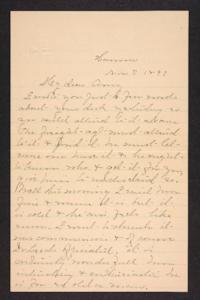 Letter from Mary A. Roberts to Amy Roberts Jones, 1897 November 7