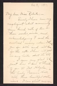 Letter from Harriet E. Glazier to Amy Roberts Jones