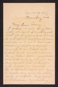 Letter from Mary A. Roberts to Amy Roberts Jones, 1897 November 12