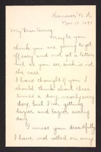 Letter from unidentified correspondent  to Amy Roberts Jones, 1897 November 17