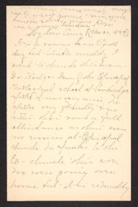 Letter from Mary A. Roberts to Amy Roberts Jones, 1897 November 21