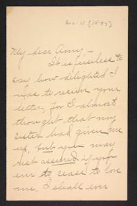 Letter from Blanche Louise Mae to Amy Roberts Jones, 1897 December 11