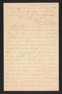 Letter from Mary A. Roberts to Amy Roberts Jones, 1897 December 12