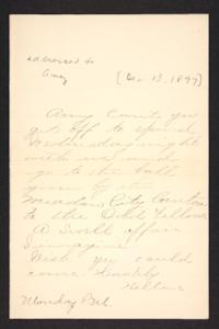 Letter from unidentified correspondent to Amy Roberts Jones, 1897 December 13