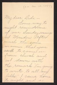 Letter from unidentified correspondent to Amy Roberts Jones, 1897 December 18