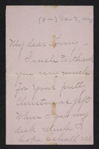 Letter from Blanche Louisa Mae to Amy Roberts Jones, 1898 January 3