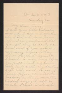 Letter from Mary A. Roberts to Amy Roberts Jones, undated