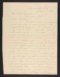 Letter from unidentified correspondent to Mary A. Roberts, 1898 January 9