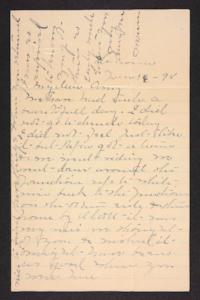 Letter from Mary A. Roberts to Amy Roberts Jones, 1898 January 16