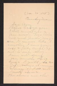 Letter from Mary A. Roberts to Amy Roberts Jones, 1898 January 20