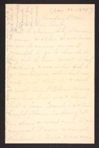 Letter from Mary A. Roberts to Amy Roberts Jones, 1898 January 23