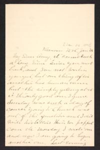 Letter from her aunt to Amy Roberts Jones, 1898 January 26