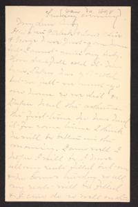 Letter from Mary A. Roberts to Amy Roberts Jones, 1898 January 30