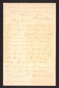 Letter from Mary A. Roberts to Amy Roberts Jones, 1898 February 3
